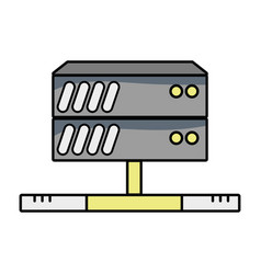database technology to server connection vector image