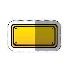 sticker yellow rectangle warning traffic sign vector image