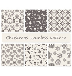 Christmas seamless floral vector image