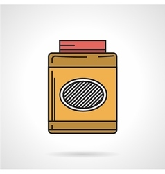 Flat style icon for gainer supplements vector image