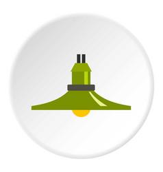 hanging lantern icon circle vector image