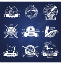 Hunting Design Elements Set vector image