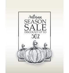 design banner big autumn sale vector image vector image