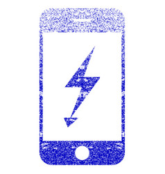 Electric mobile phone textured icon vector