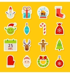Happy New Year Stickers vector image vector image