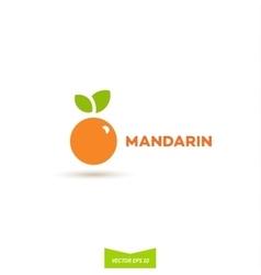 logos mandarin orange flat design vector image