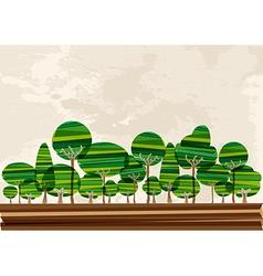 Multicolor forest landscape vector image