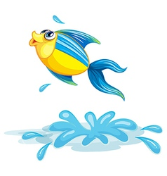 A fish at the sea vector image