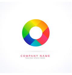 abstract circle concept logo vector image