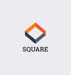 abstract infinity square shape company business vector image