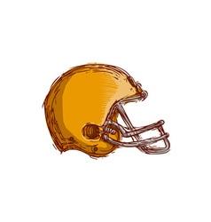 American Football Helmet Drawing vector image