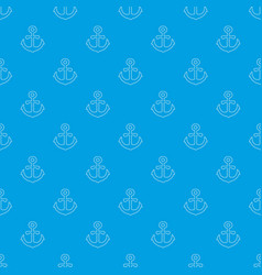 Anchor pattern seamless blue vector
