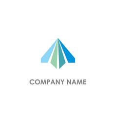 arrow up triangle design logo vector image