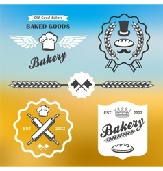 Bakery bread vintage retro badges labels logo vector