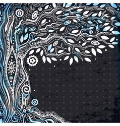 Beautiful tree life vector