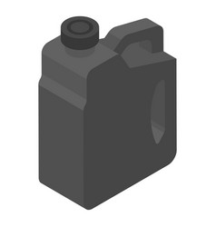 Black canister icon isometric style vector
