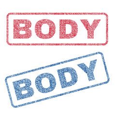 Body textile stamps vector
