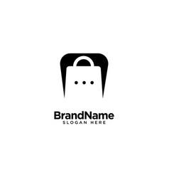 Chat store logo design inspiration vector
