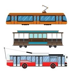 City transport set vector