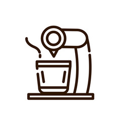 coffee cup automatic machine preparation line vector image