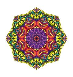 color circular pattern vector image