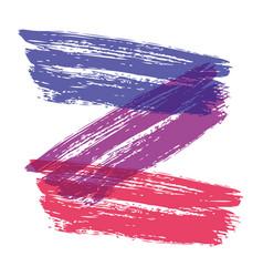 colorful brush font hand drawn alphabet vector image