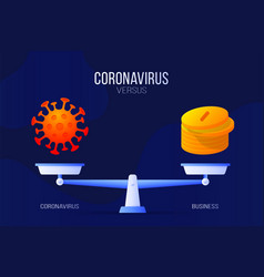 Coronavirus or economic money creative concept vector