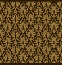 damask seamless pattern lux vintage style vector image