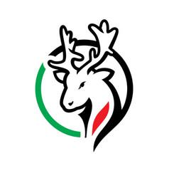 deer meat sign vector image