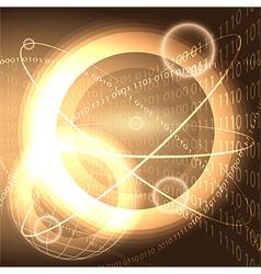 Digital universe vector image