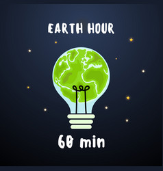 Earth hour 60 minutes vector