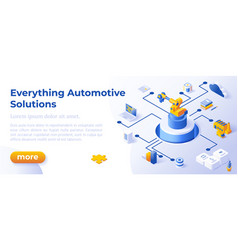 everything automotive solutions - banner layout vector image