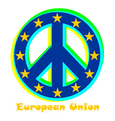Flag of european union as a sign of pacifism vector