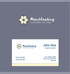 football logo design with business card template vector image