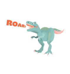 Funny cartoon dinosaur tyrannosaurus vector