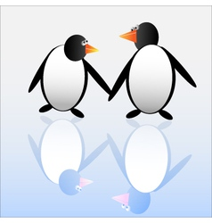Funny penguins vector