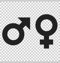 Gender male and female sign icon men and women vector