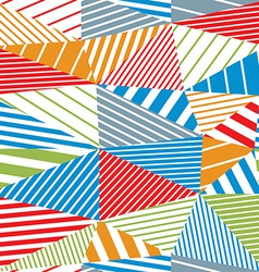 Geometric stripy seamless pattern vector