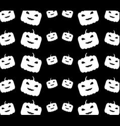 halloween pumpkins pattern vector image