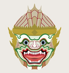 Hanuman head vector