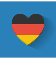 Heart-shaped icon with flag of Germany vector