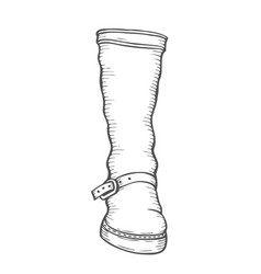 High boot vector
