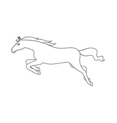 Horse and gallop symbol vector