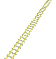 Image Yellow railway on white vector