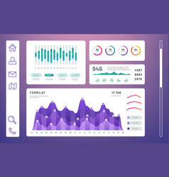 infographic dashboard admin panel with info vector image