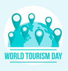 International tourism day background flat style vector
