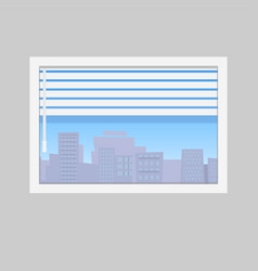 jalousie and city skyline view vector image