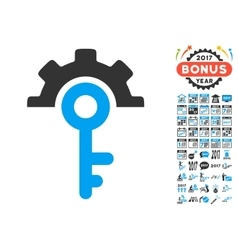 Key Options Icon With 2017 Year Bonus Pictograms vector
