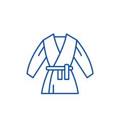 kimono line icon concept kimono flat vector image