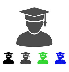 knowledge man flat icon vector image